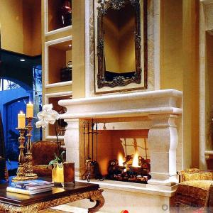 Popular Polyurethane Hanging artificial fireproof material decorative Fireplace