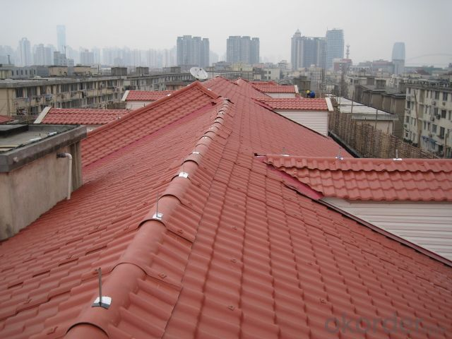High quality Synthetic spanish roof tile