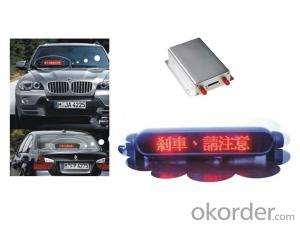 Car/Bus GPS Tracker with LED Advertising Screen