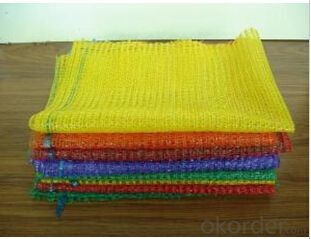 Mesh bag for vegetables red yellow