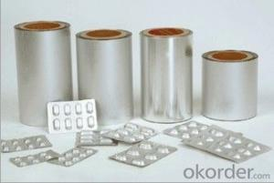 Alu Alu Bottom Foil for Capsules Packaging with FDA certificate