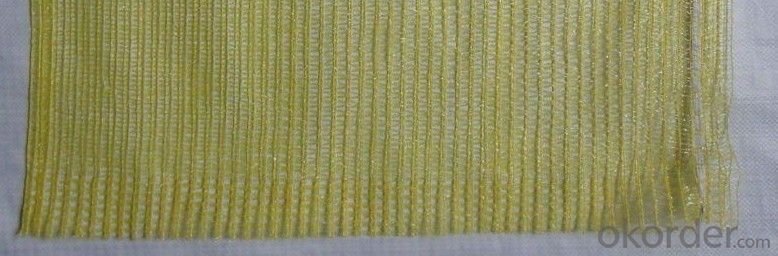 Mesh bag for vegetables 60x80cm  yellow