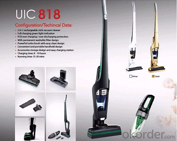 Auto Rechargeable Vacuum Cleaner With Stick