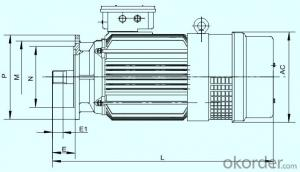 YTDVF Variable一Frequency Three一Phase Asynchronous Motor for Tower Crane Amplitude Mechanism