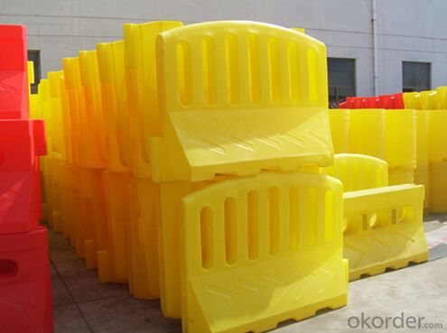 Plastic Warning barrier yellow red 2m