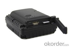 GPS tracker with long lasting battery 8800mAh placed under the car