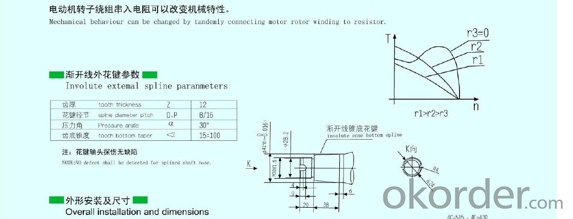 YTSR(RCS) Woundrotor three-phase asynchronous motor for tower crane