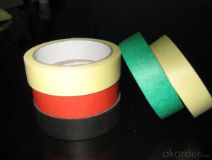 Paper Masking Tape in Various Colors with One Roll Per Shrink