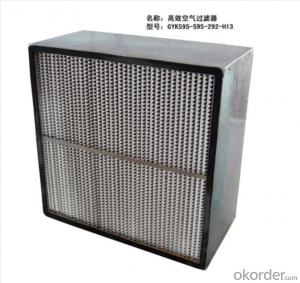 High efficiency capacity deep pleat hepa filter