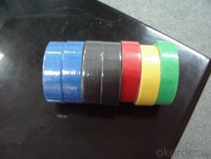 Masking Tape of Low Tack in Various Colors