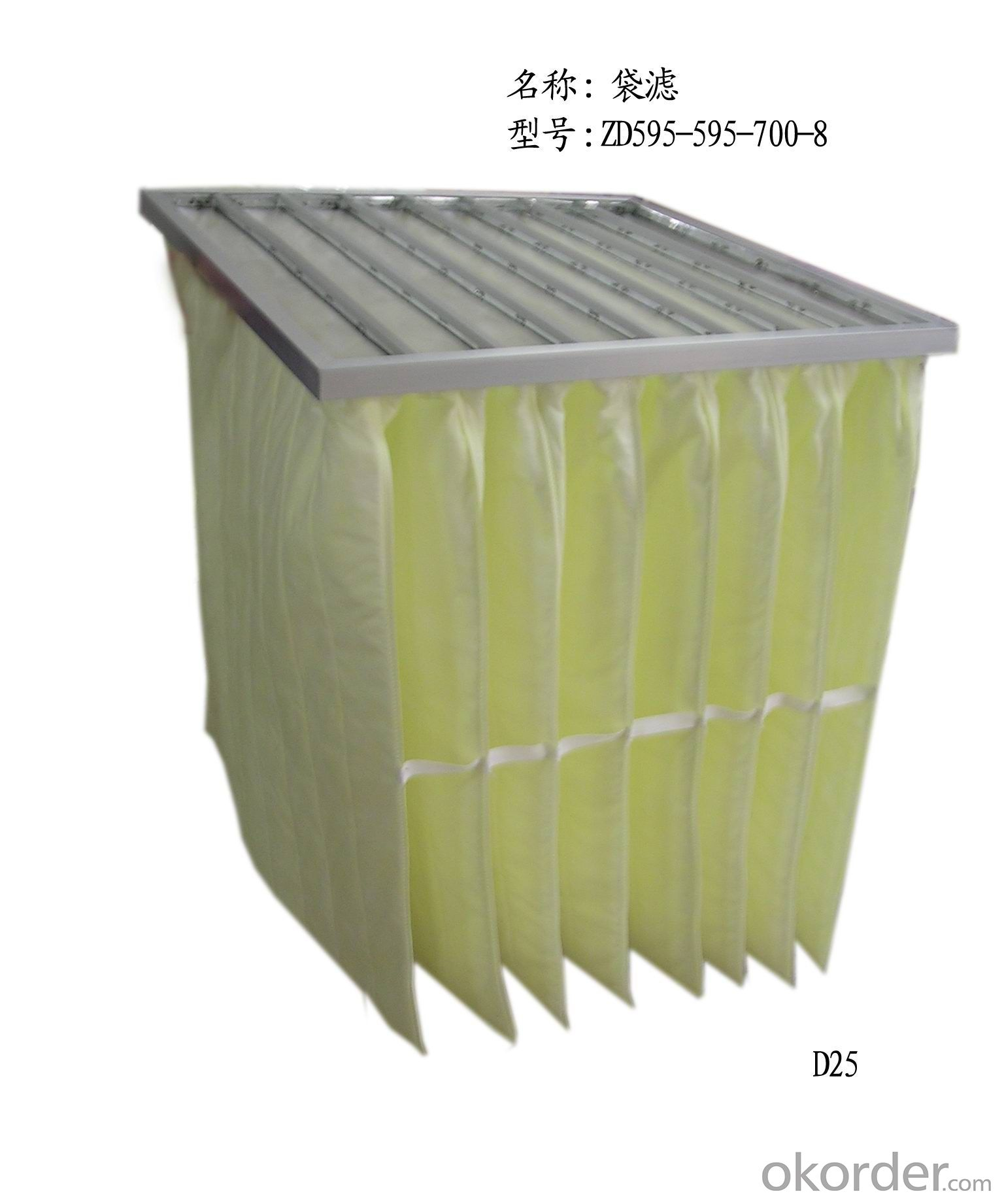 Metal Frame Synthetic Fiber Pocket Filter