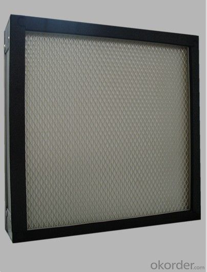 High Efficiency Mini-pleat Glass Fiber HEPA Filter
