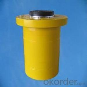Single acting hollow plunger hydraulic ram