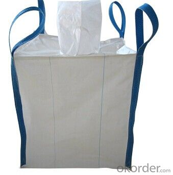 Container bag FIBC bag with white PP handle, UV Treated