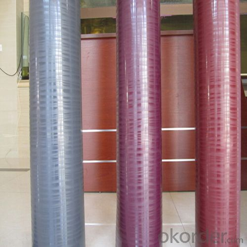High Gloss Red Solid Color PVC Film with High Qulaity
