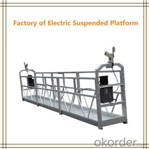 Construction Cleaning / Painting Suspended Gondola Cradle With Hoist 2.2KW