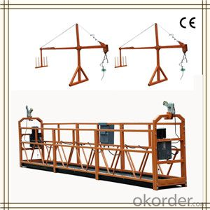 Safety Light Weight Swing Stage Scaffold , ZLP Series Windows Cleaning Platform