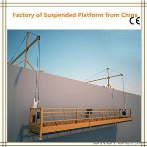 Steel / Aluminum Suspended Working Platform Safety ZLP1000 380V / 220V / 415V