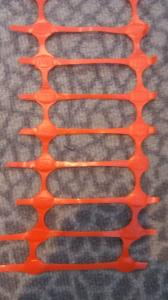 Warning fence  for construction safety net orange