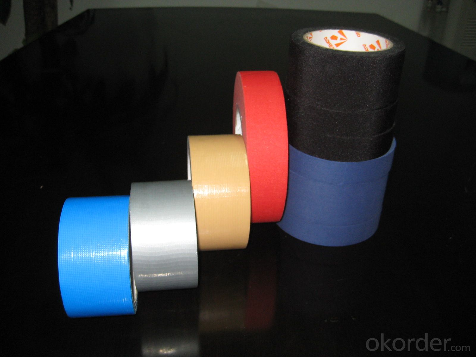 cheap adhesive colorful duct tape cloth tape high quality made in china