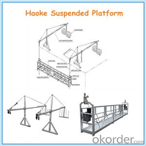 CE & SO Certified ZLP Series Suspended Working Platform