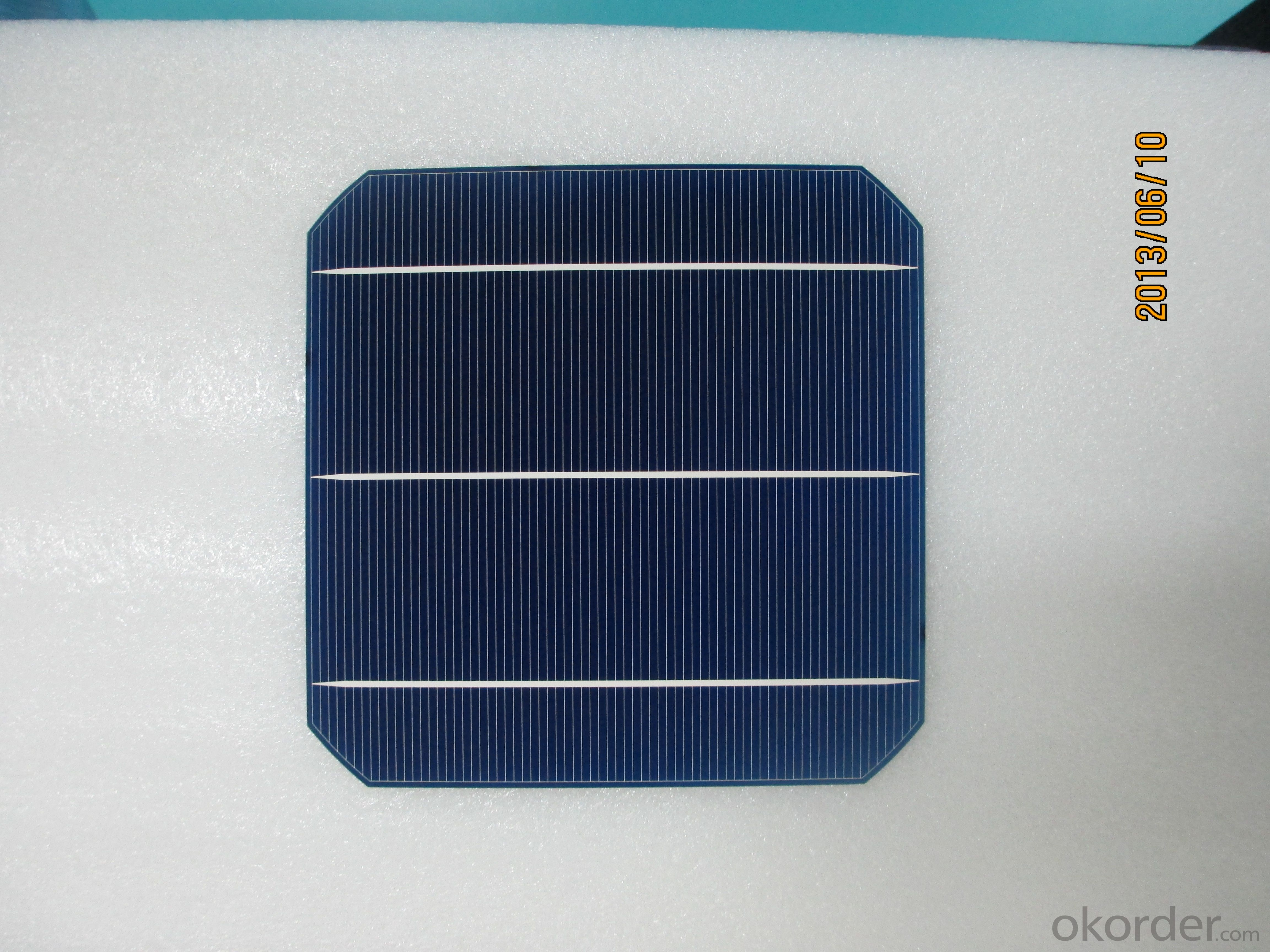 Monocrystal Solar Energy Cell 156*156mm with18.6% Efficiency