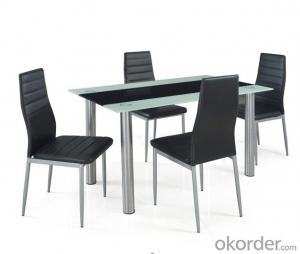 modern appearence glass diningroom set