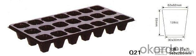 Seeding tray 21cells for agriculture