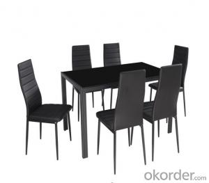 tempered glass dining set
