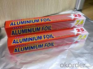 Aluminum foil for household use