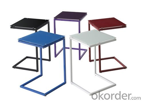 tempered glass side table