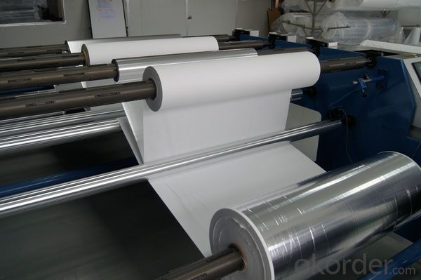 Multilayer combination of aluminum foil reflective screen and cryogenic & insulation paper