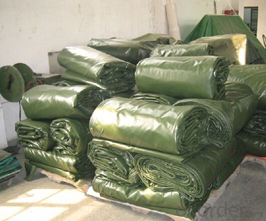Rolled PVC Tarpaulin in Stock