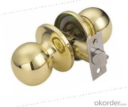 Round Knob Door Lock 607 PB-A