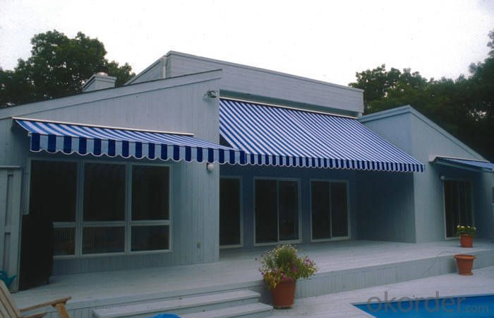 Blue and White Shade Sail