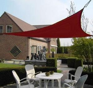 Horse Blood Red HDPE Shade Sail Net