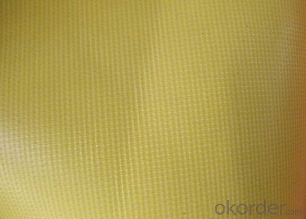 Yellow Color PVC Coated Tarpaulin
