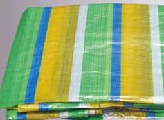 Both sides coated four color stripe PE Tarpaulin