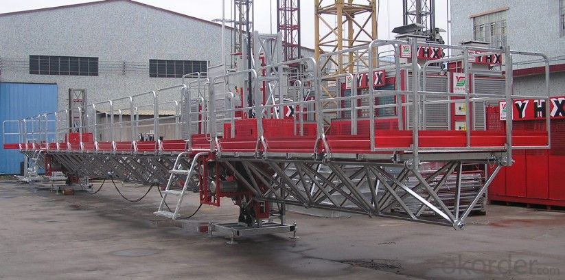 YHX Twin Mast climbing work platform  100