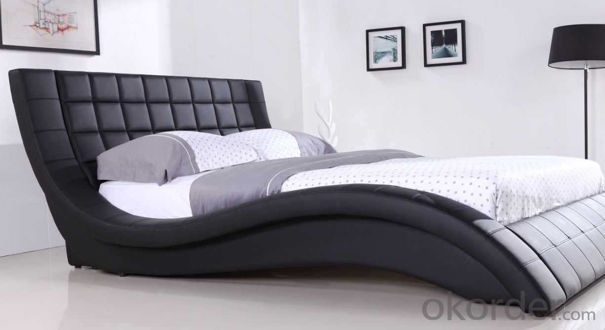 High Quality Modern Leather Bed  CN19