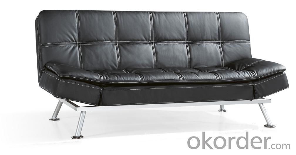 Leather sofabed in pu model-4