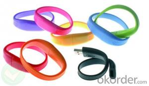 Silicone Wristband With USB Flash Drive