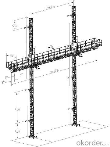 YHX Twin Mast climbing work platform
