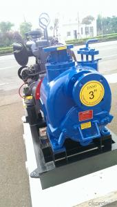 P-3 inch non clogging high suction self priming diesel water pump bare