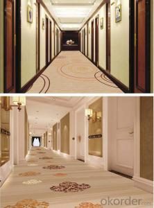 Polypropylene wilton carpet for hotel hallways