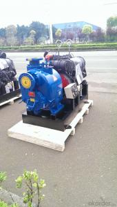 Lanco brand self priming centrifugal 4 inch sewage diesel water pump