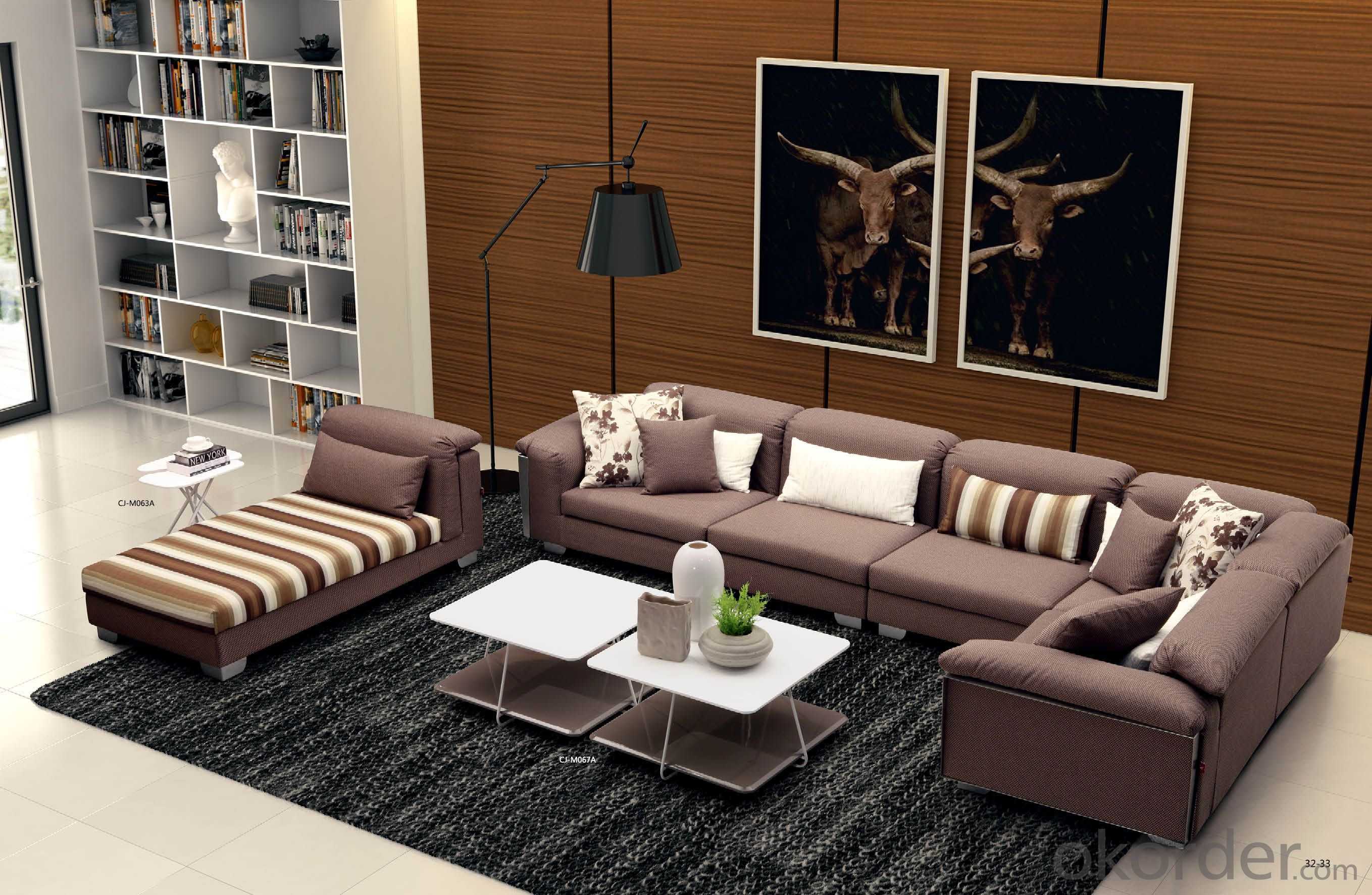 Leather sofa model-1