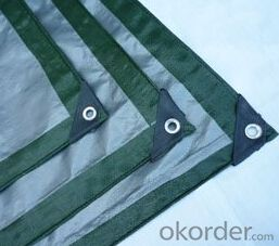 Green& silver PE tarpaulin for truck