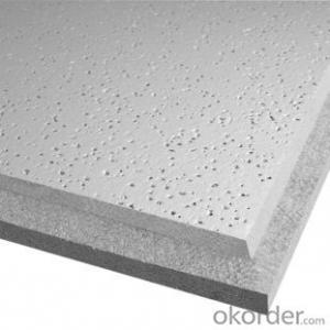 Suspension compound Mineral Ceiling Tiles , Metal Corner T grid