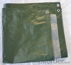 Green PE Medium Duty Tarpaulin